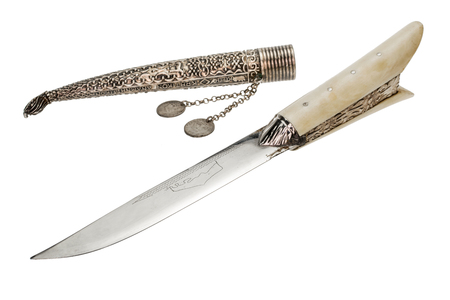 Greek Ethnic knife isolated over white