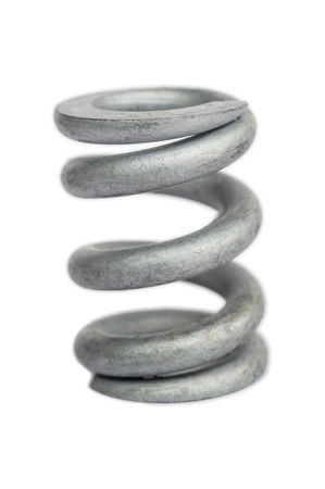 Metal spring isolated over white Stock Photo