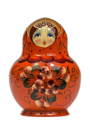 babushka doll isolated Stock Photo