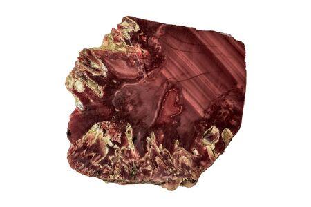 Agate specimen isolated on white background