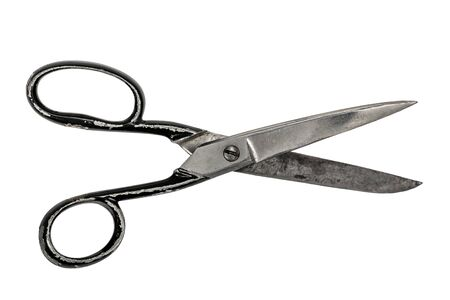 vintage scissor isolated over white