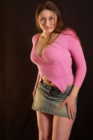 The girl in a sweater