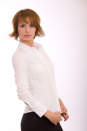 disinterested: Studio portrait of the beautiful girl Stock Photo