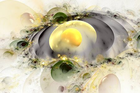 Abstract 3D a background from multi-colored full-spheres of the various form Stock Photo - 10201142