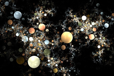 Abstract 3D a background from multi-colored full-spheres of the various form Stock Photo - 10201141