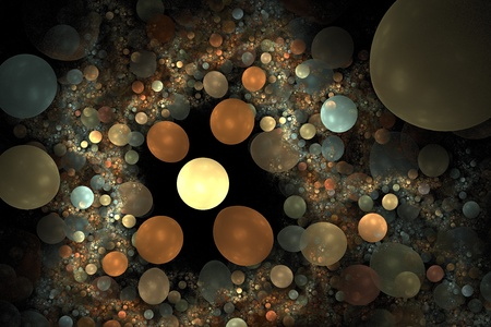 Abstract 3D a background from multi-colored full-spheres of the various form Stock Photo - 10398982