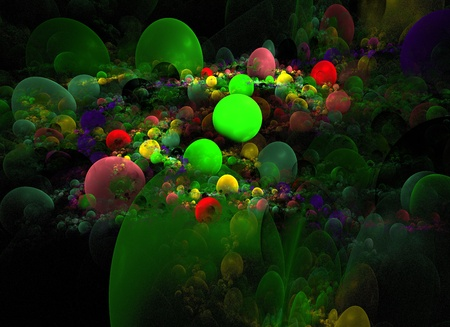 Abstract 3D a background from multi-colored full-spheres of the vaus form Stock Photo - 10399027