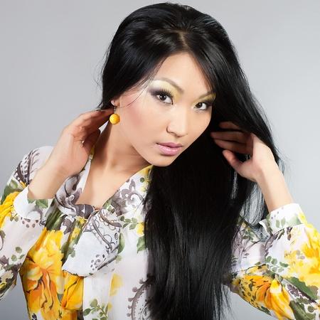 Portrait of the Tuva beautiful girl