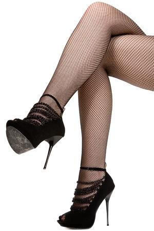 benen: vrouw benen. geïsoleerd op wit Stockfoto