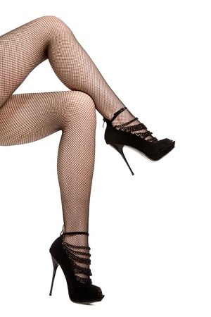woman legs. isolated on white Stock Photo