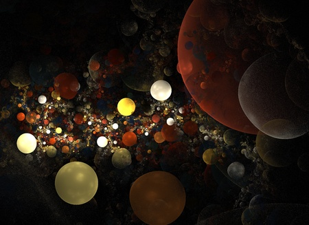 Abstract 3D a background from multi-colored full-spheres of the various form Stock Photo - 12337811