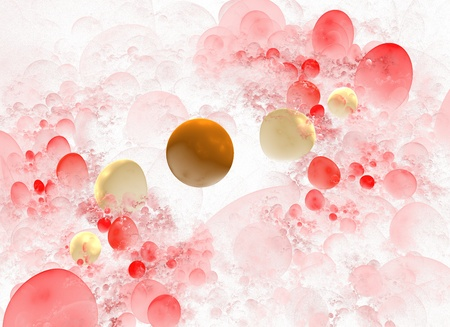 Abstract 3D a background from multi-colored full-spheres of the various form Stock Photo - 12549567
