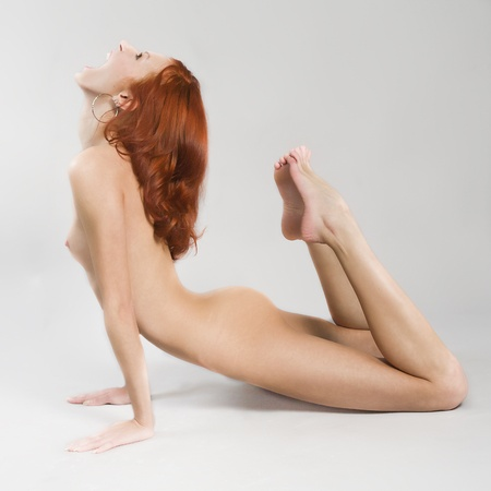 attractive nude young woman Stock Photo