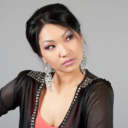 Portrait of the Tuva beautiful girl photo