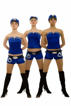 Girls in the form of the policeman