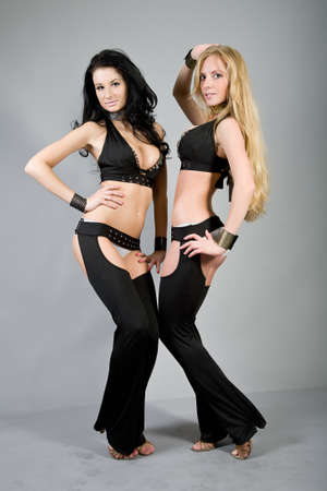 Girls in club dancing suits photo