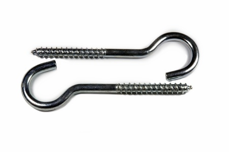 Wall hooks for fixture Stock Photo
