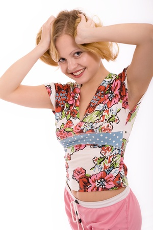 marvellous: The beautiful girl smiles Stock Photo