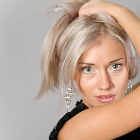 Portrait of the young attractive blonde Stock Photo - 12569498