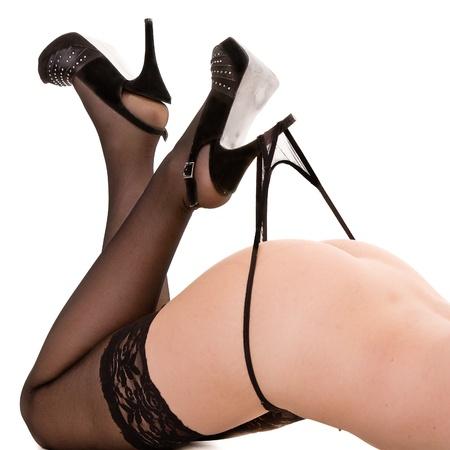 erotico: donna gambe isolato su bianco