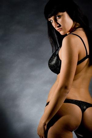 young beautiful girls in elegant black linen Stock Photo - 12740848