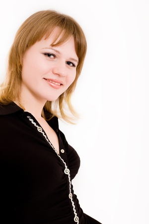 faultless: The beautiful girl smiles Stock Photo