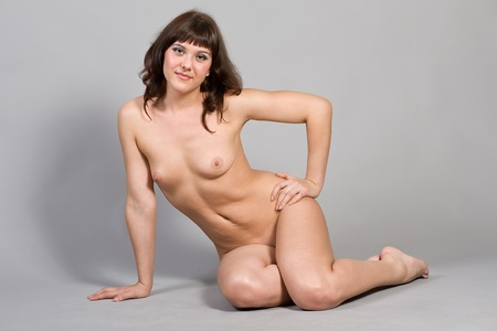Portrait of the young nude woman
