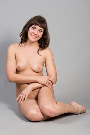sexy nackte frau: Portrait des jungen nackten Frau