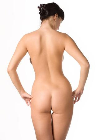 naakt: Portret van de jonge vrouw naakt Stockfoto