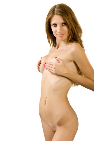 Portrait of the attractive nude woman Stock Photo