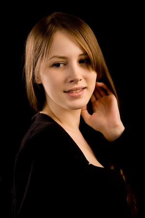 Portrait of the young attractive woman Stock Photo - 13352902