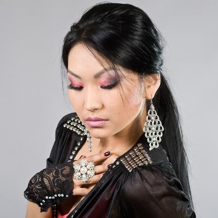 Portrait of the Tuva beautiful girl Stock Photo - 13977630