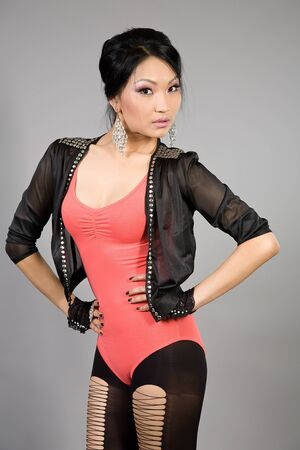 Portrait of the Tuva beautiful girl Stock Photo - 16299617