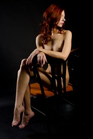 giovane nuda: attraente giovane donna nuda Archivio Fotografico
