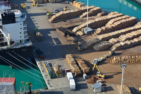 Aerial view of port dock Stock Photo