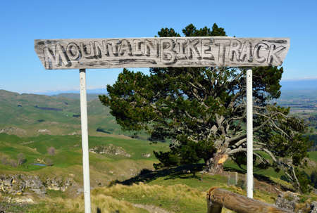 Crazy mountain bike trail sign