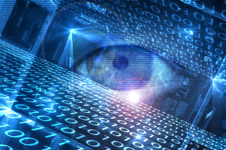 Digitally generated cyber hacking image