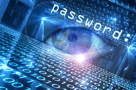 Digitally generated cyber hacking image photo