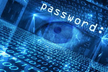 menace: Digitally generated cyber hacking image