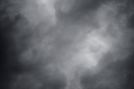 Natural background of sky with dark thunderclouds Stock Photo