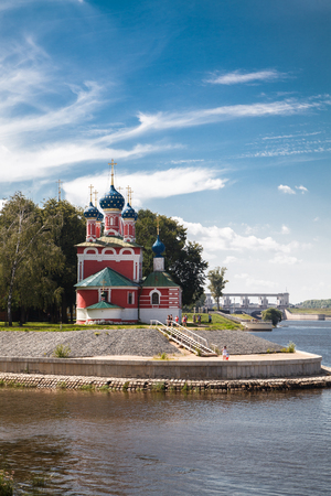 uglich russia: Church of St. Demetrios on the Blood on the banks of the Volga river (Uglich, Russia)