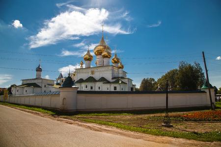 Resurrection Mens Monastery. Uglich. Russian Golden Ring. Stock Photo