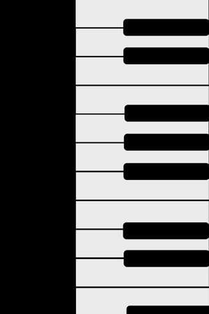 Piano keyboard vector icon illustration.