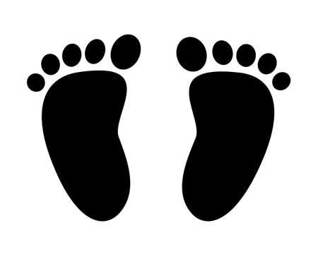 Foot icon for cartoon. vector illustration.