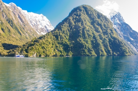 View of the milford Sound from the cruise photo