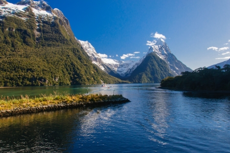 View of the milford Sound from the port photo