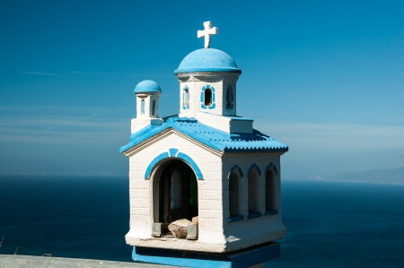A model of church in blue and white in Santorini, Greece Stock Photo - 19875355