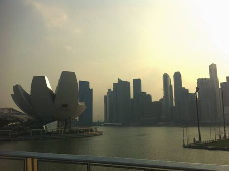 haze: Haze in singapore - skyline of singapore Stock Photo