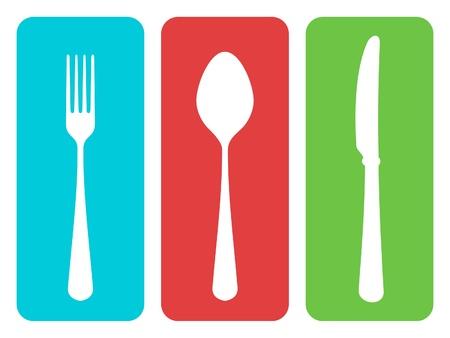 white napkin: Cutlery vector illustration Illustration