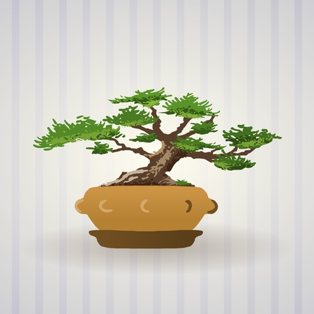 Bonsai Tree Art Stock Vector - 9840938
